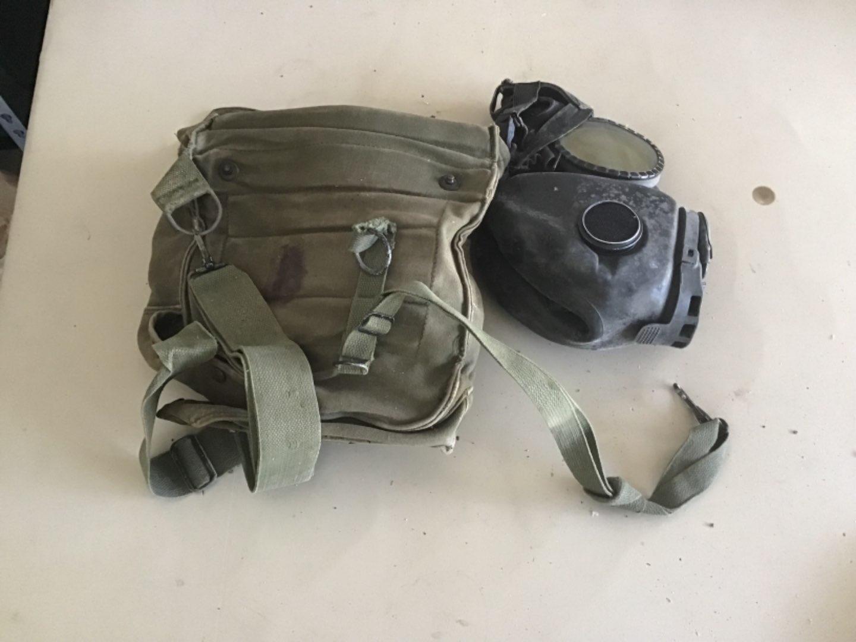 Lot # 206 M17 Military Grade Gas Mask w/Protective Bag, Shoulder Strap, etc! See Descrip in Lot 155
