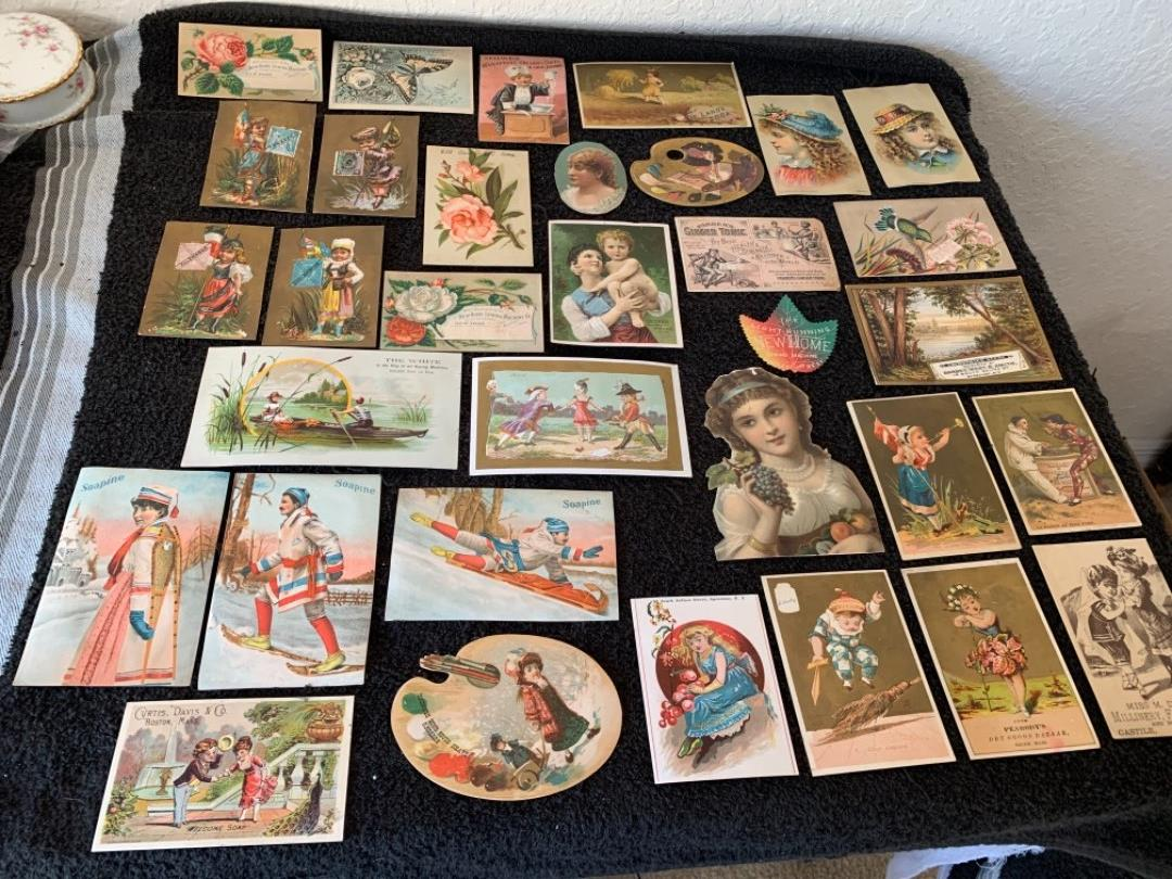 Lot # 209 Great Lot Antique Victorian Trade Cards. See #4 Description