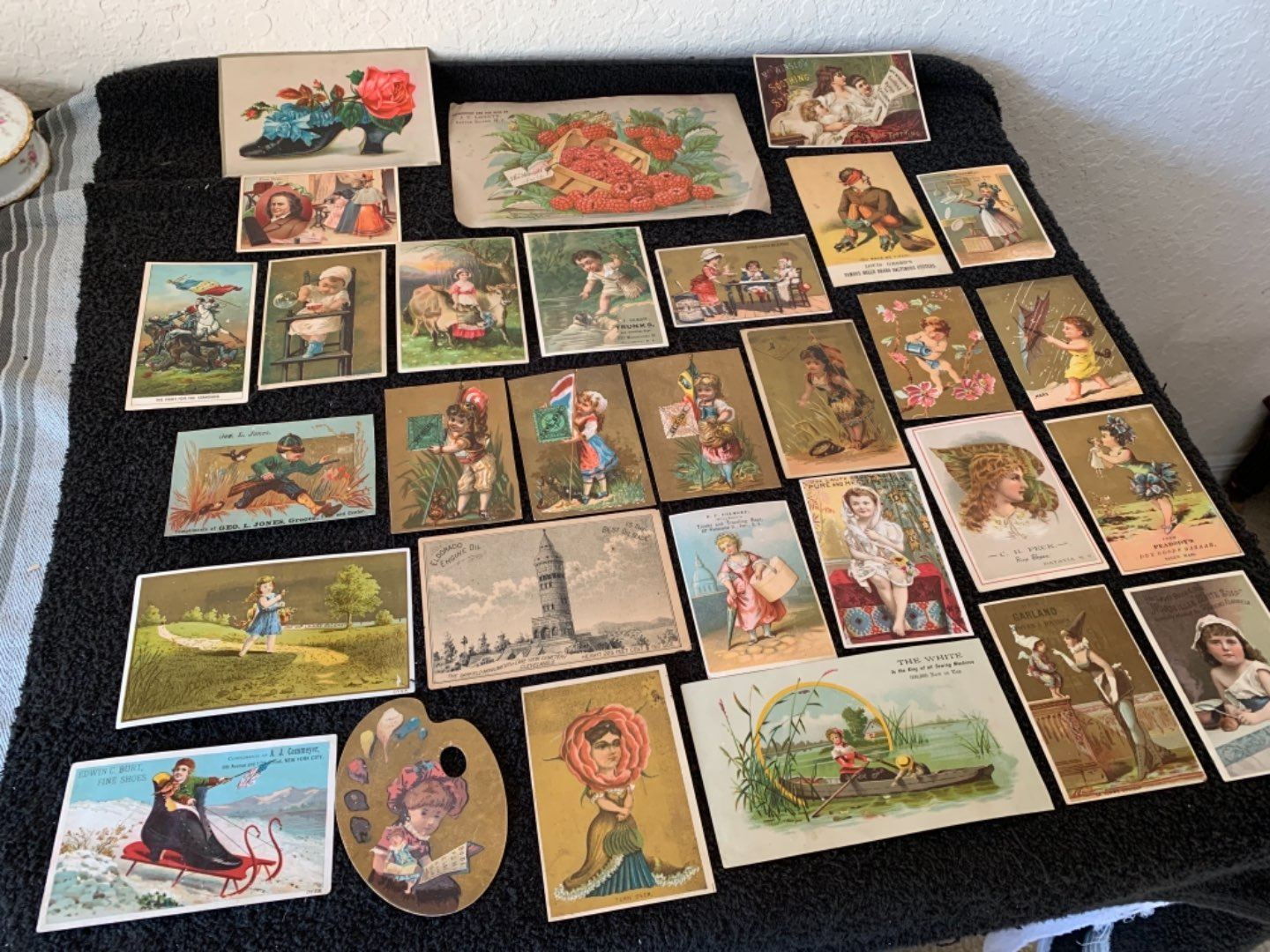 Lot # 210 Great Lot Antique Victorian Trade Cards. See #4 Description