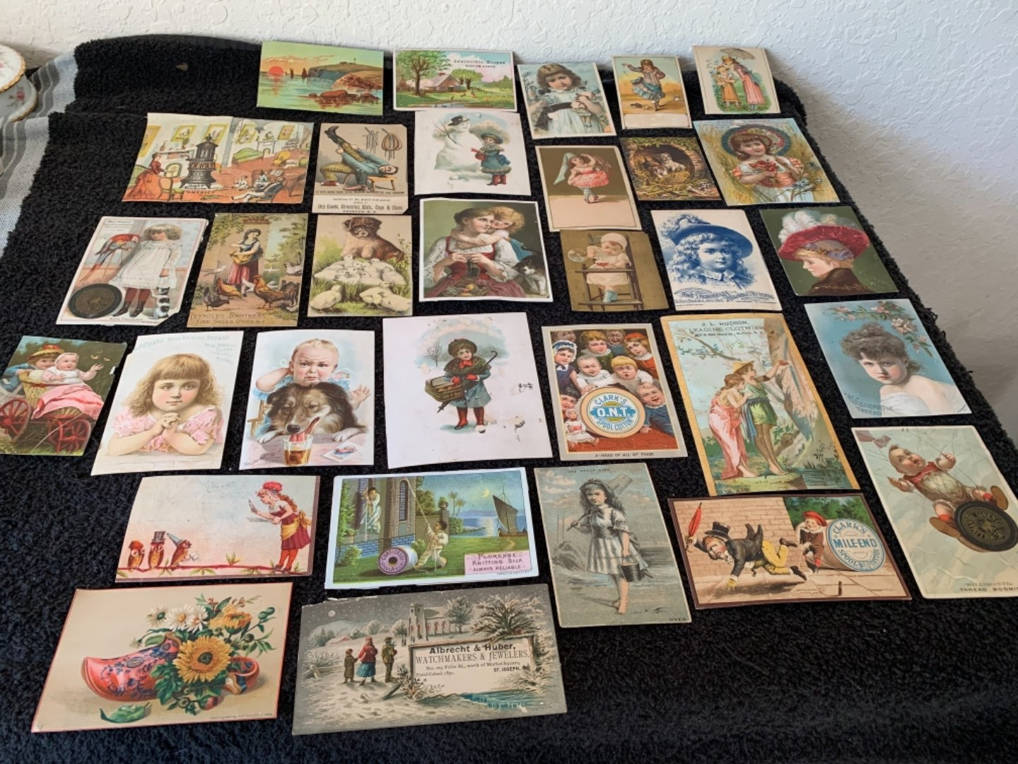 Lot # 211 Great Lot Antique Victorian Trade Cards. See #4 Description