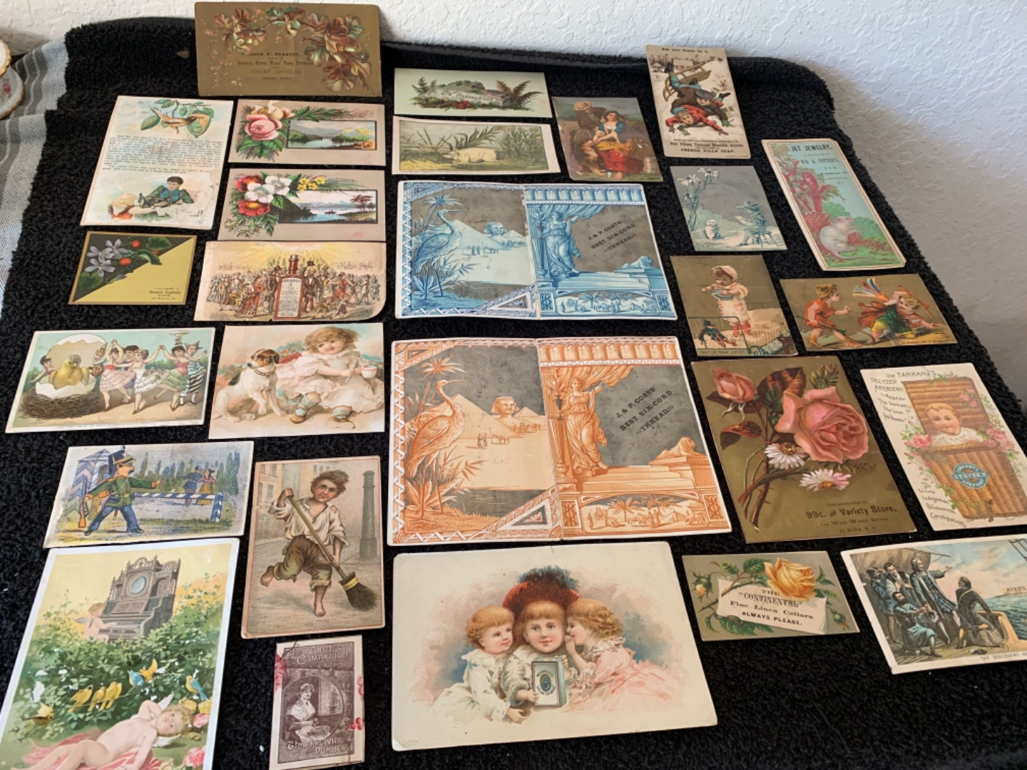 Lot # 213 Great Lot Antique Victorian Trade Cards. See #4 Description