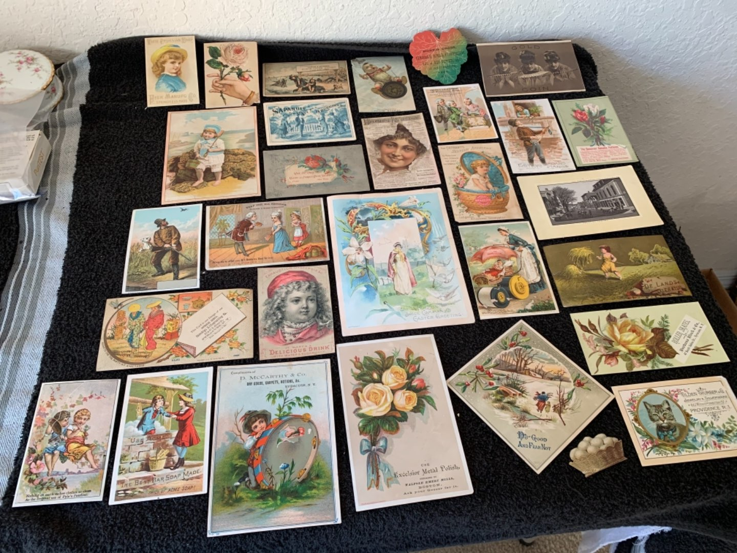 Lot # 214 Great Lot Antique Victorian Trade Cards. See #4 Description