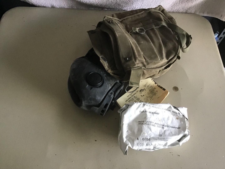 Lot # 217 M17 Military Grade Gas Mask w/Protective Bag, Shoulder Strap, etc! See Descrip in Lot 155