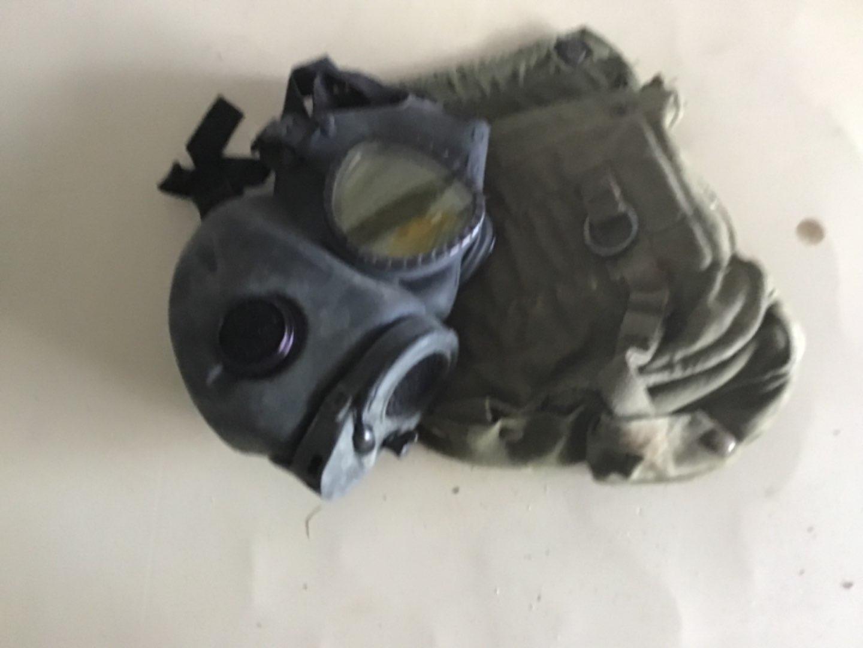Lot # 218 M17 Military Grade Gas Mask w/Protective Bag, Shoulder Strap, etc! See Descrip in Lot 155
