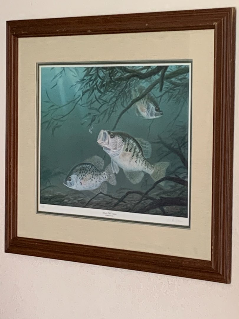 """Lot # 220 Huge Numbered & Signed Randy McGovern """"Shady Deal Crappies"""""""