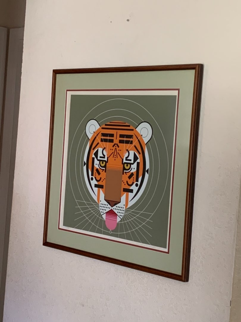 """Lot # 223 WOW! Huge Signed & Numbered Serigraph Charles Harper""""Cool Carnivore"""". See Below. RESEARCH!"""