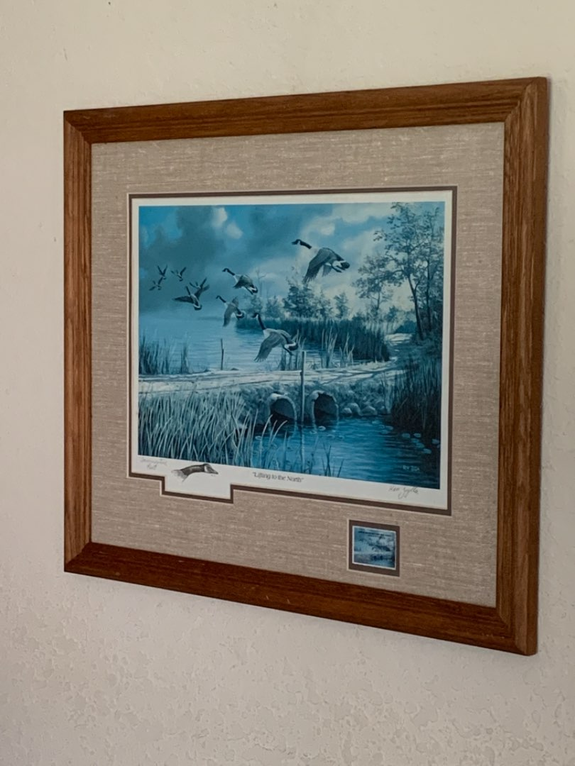 """Lot # 226 Signed Ken Zylla """"Lifting To The North"""" Commemorative Print. See Below"""