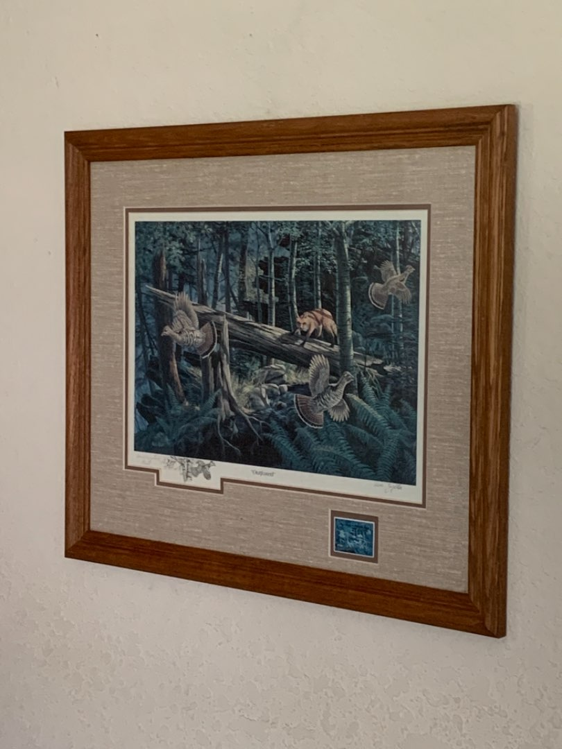"""Lot # 227 Signed Ken Zylla """"Outfoxed"""" Commemorative Print. See Below"""