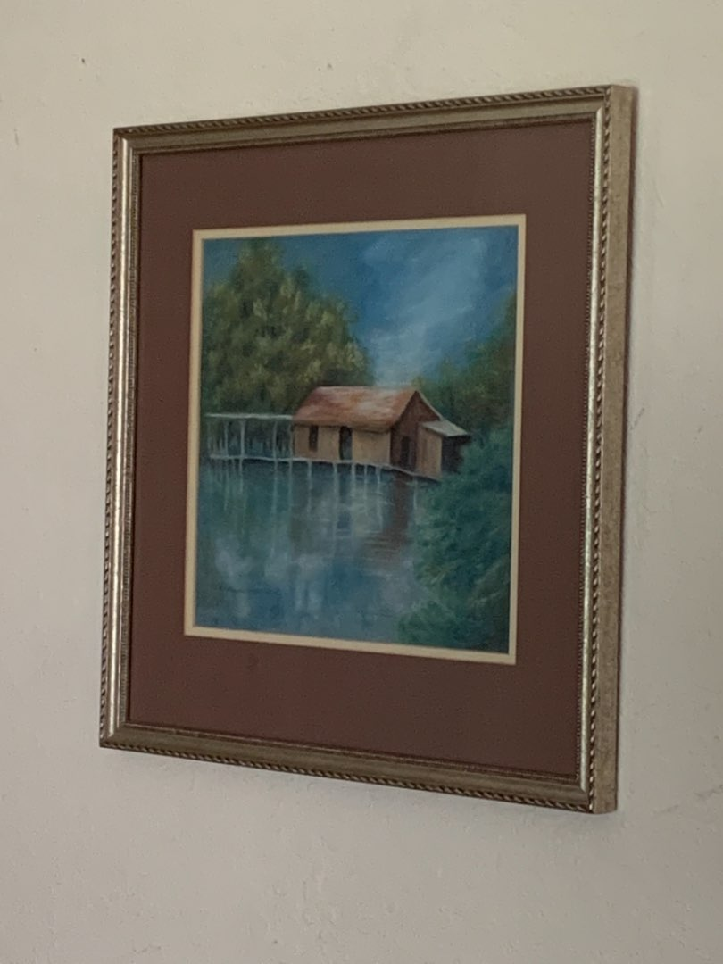 Lot # 231 Nice Signed & Dated Framed Painting? Print? See Below