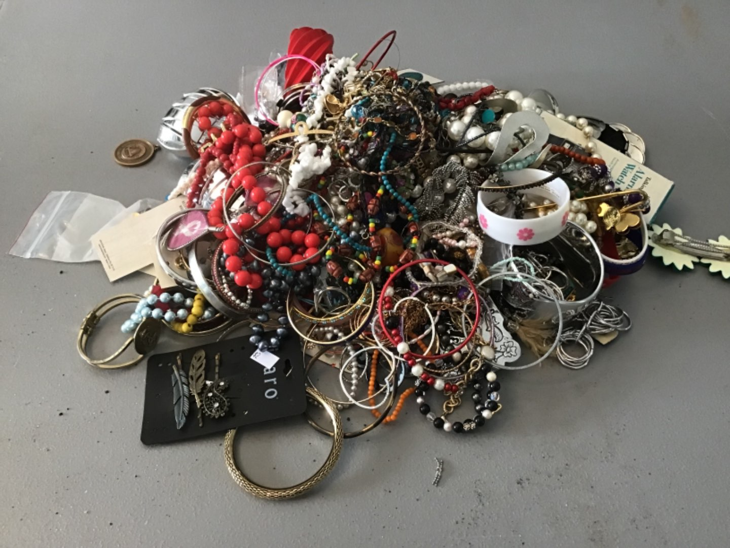 Lot # 233 HUUUGE LOT OF COSTUME JEWELRY - Approx 10 Lbs - As found