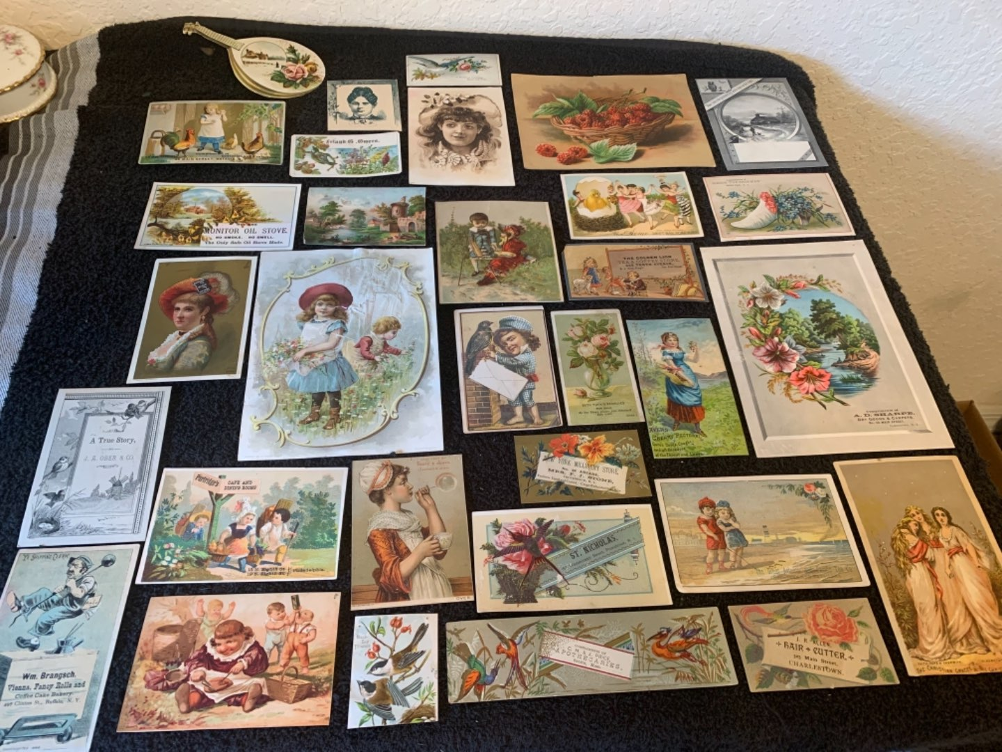 Lot # 237 Great Lot Antique Victorian Trade Cards. See #4 Description
