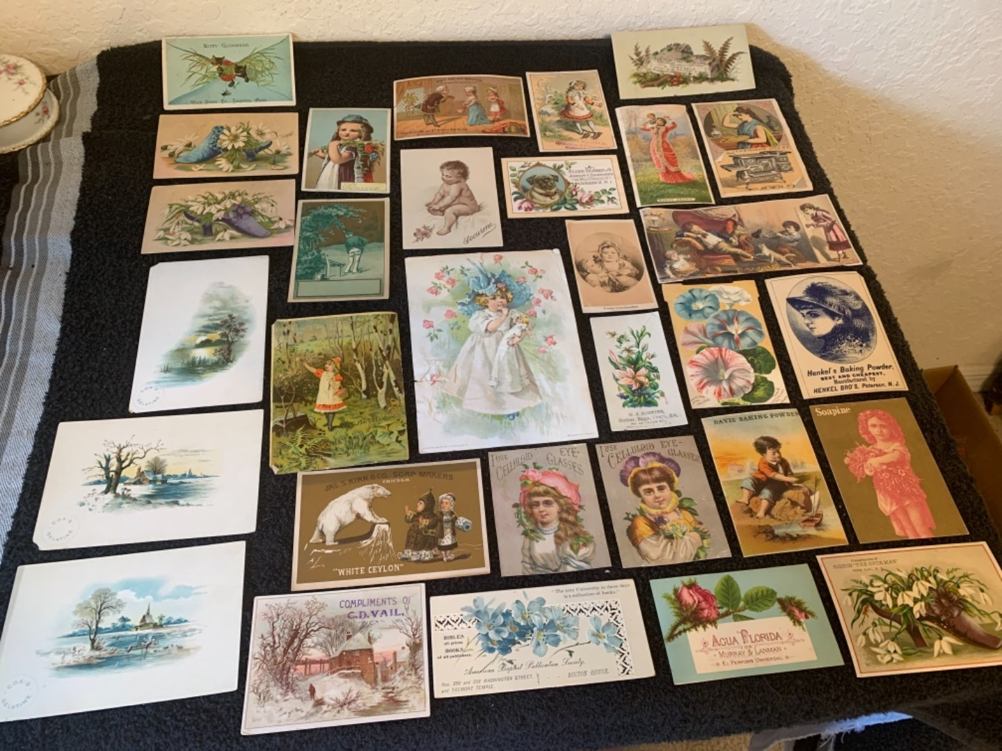 Lot # 238 Great Lot Antique Victorian Trade Cards. See #4 Description