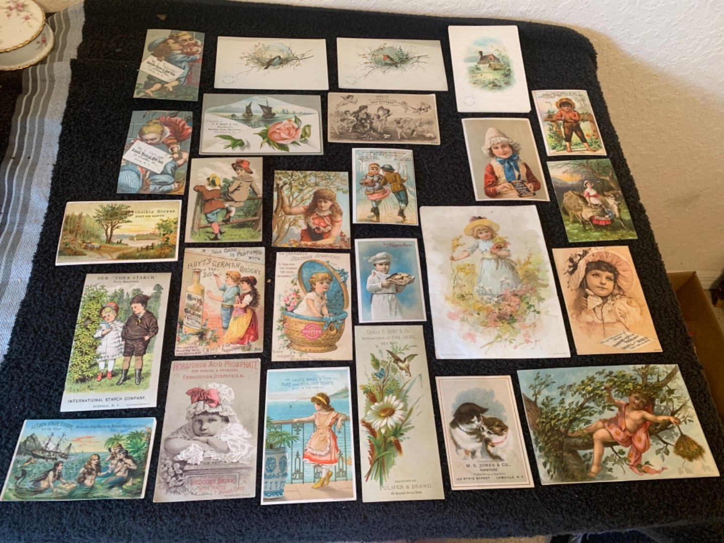 Lot # 239 Great Lot Antique Victorian Trade Cards. See #4 Description