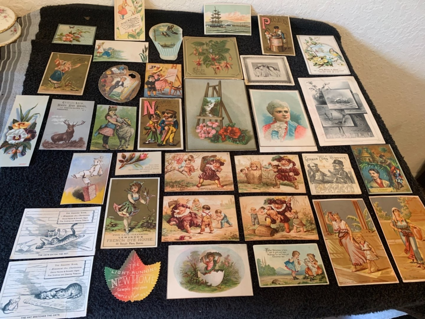 Lot # 240 Great Lot Antique Victorian Trade Cards. See #4 Description