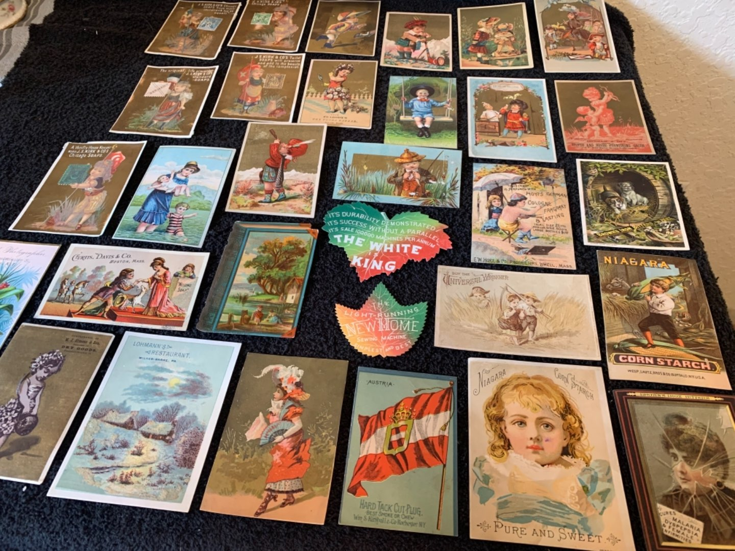 Lot # 242 Great Lot Antique Victorian Trade Cards. See #4 Description