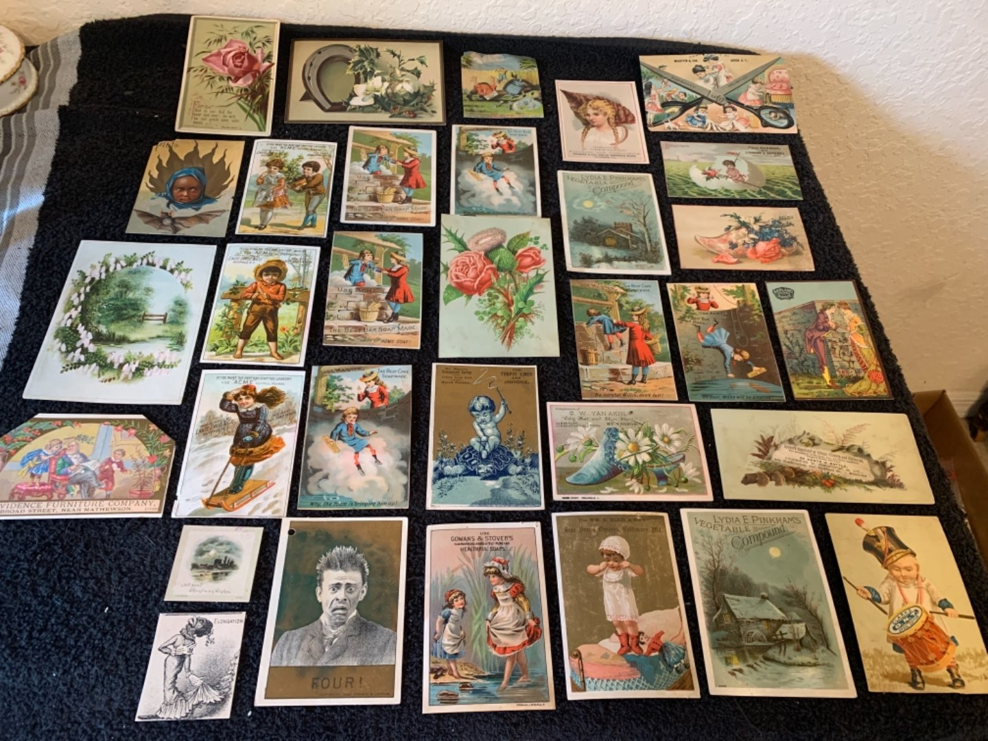 Lot # 243 Great Lot Antique Victorian Trade Cards. See #4 Description