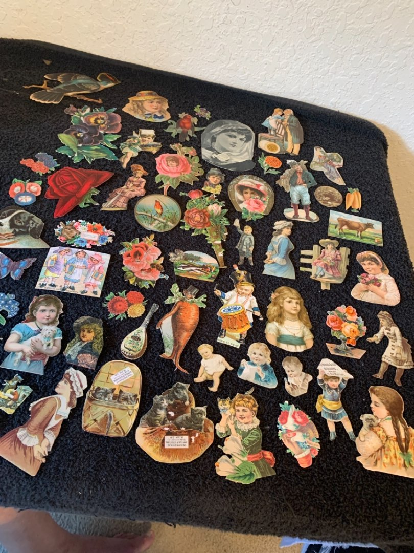 Lot # 244 Large Lot Antique Victorian Cut-Outs. See Below