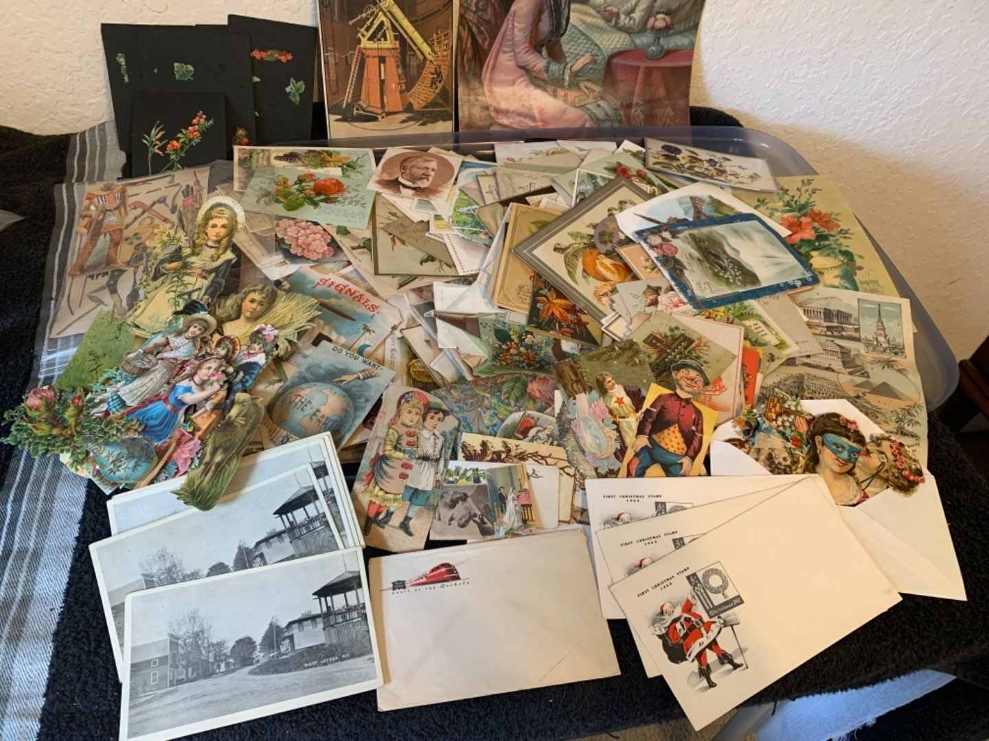 Lot # 246 Monster Lot Mixed Antique Victorian Paper To Post Cards & Unused Envelopes. See Below