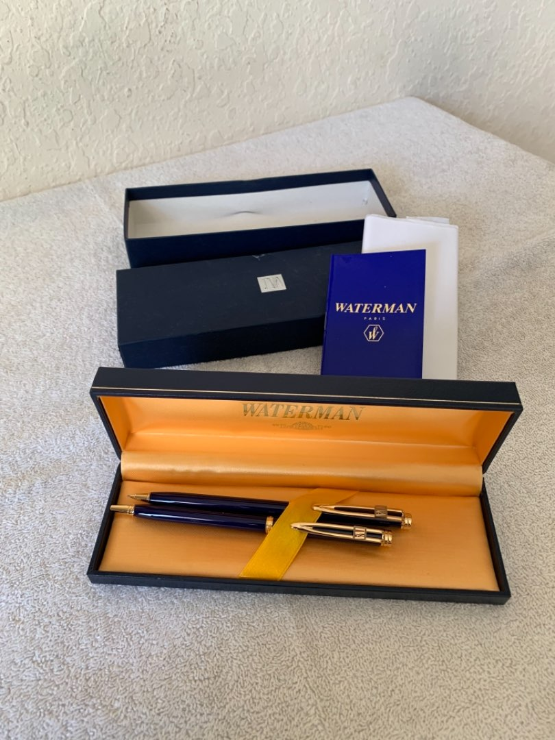 Lot # 247 Gorgeous New Old Stock Waterman Ideal Pen & Pencil Set With All Paperwork & Box