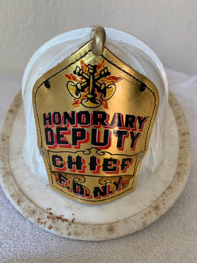 Lot # 248 Wow! Great Vintage F.D.N.Y. Deputy Firemen's Helmet. See Below