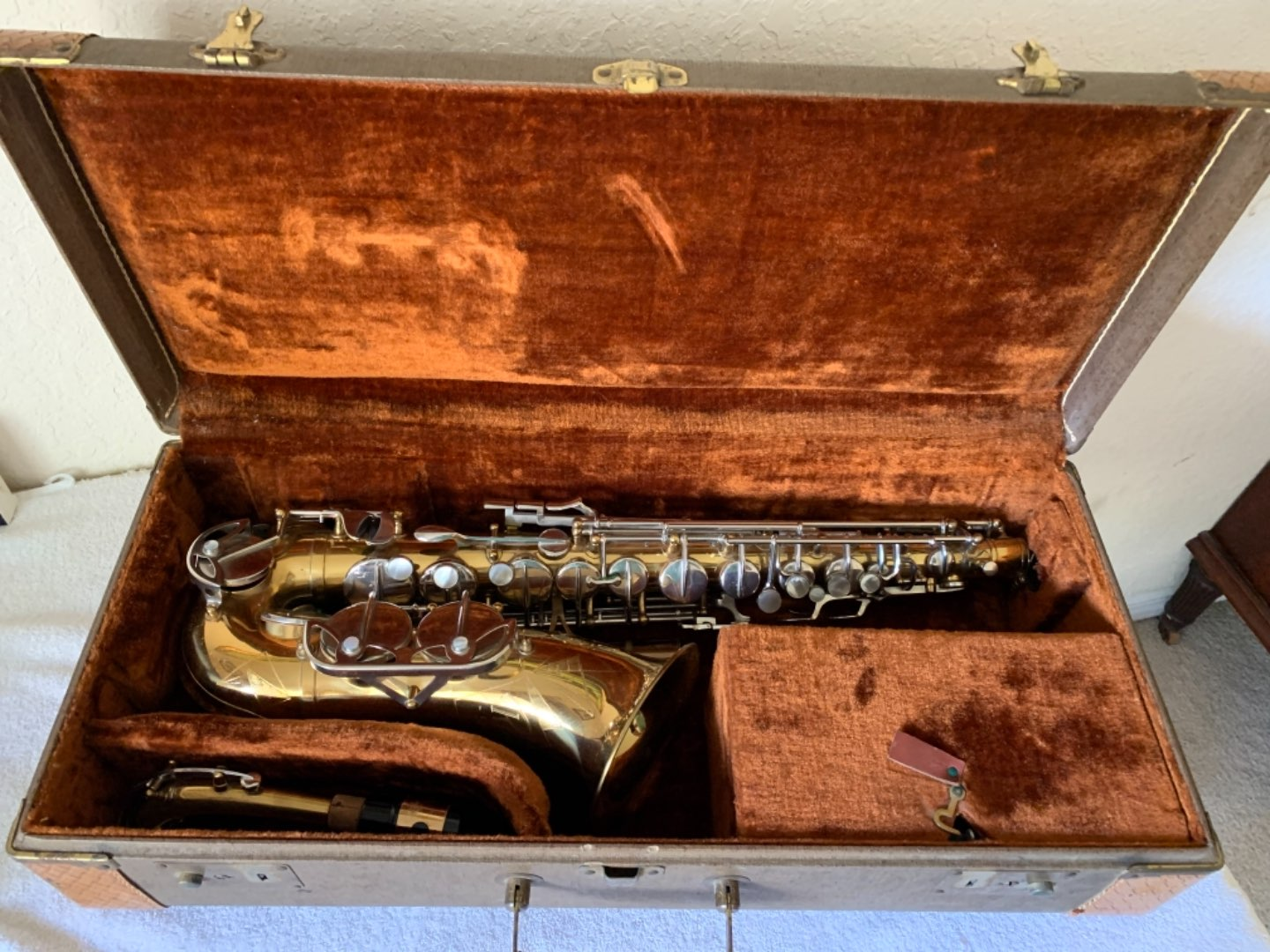 Lot # 266 Beautiful Condition Vintage Revere Special Saxophone. See Below
