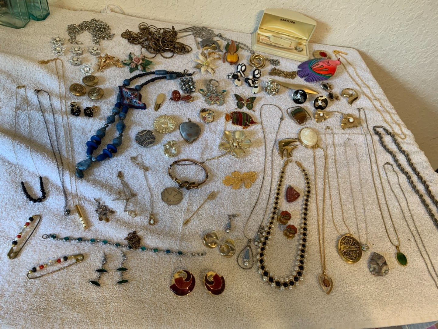 Lot # 267 Huge Lot Costume Wearable Jewelry. Vintage & New