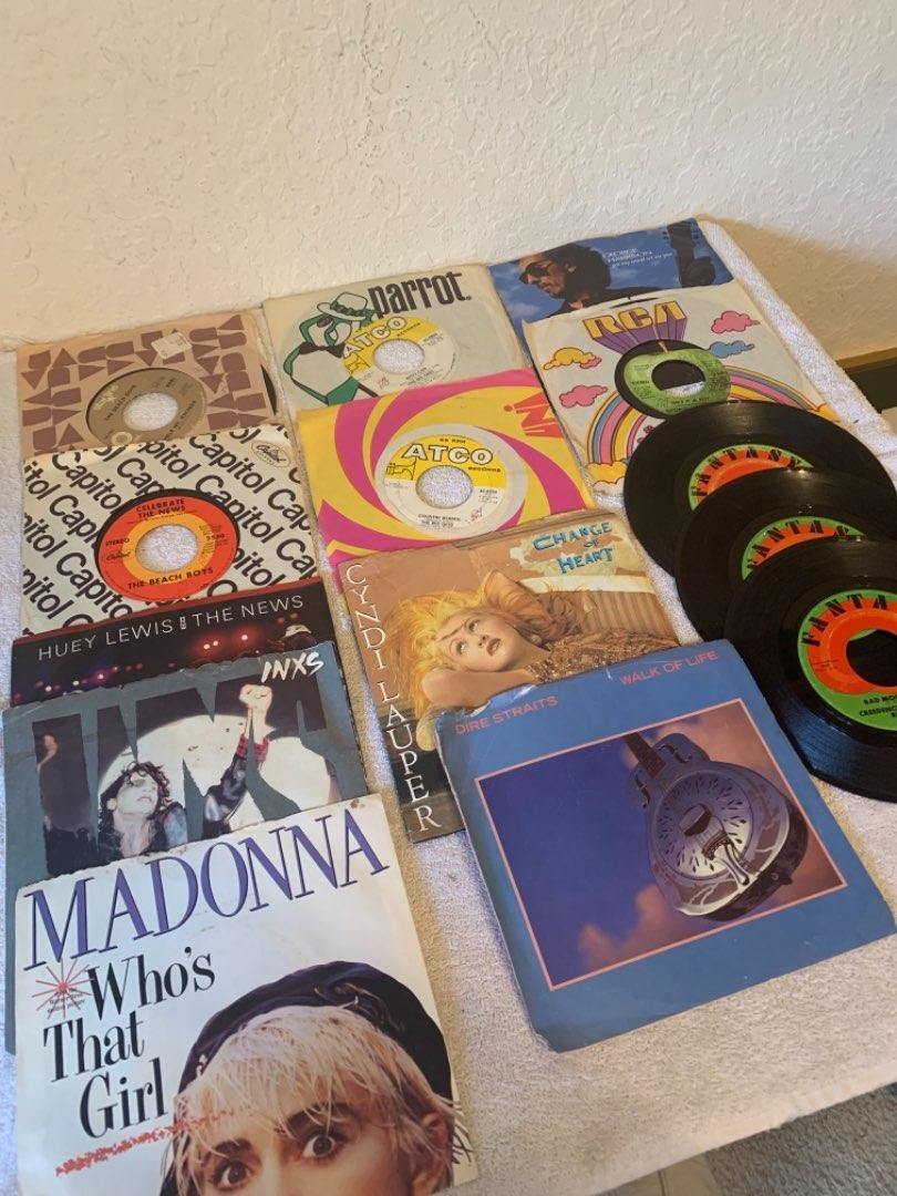 Lot # 294 Vintage Lot (14) 45's Vinyl. See Below