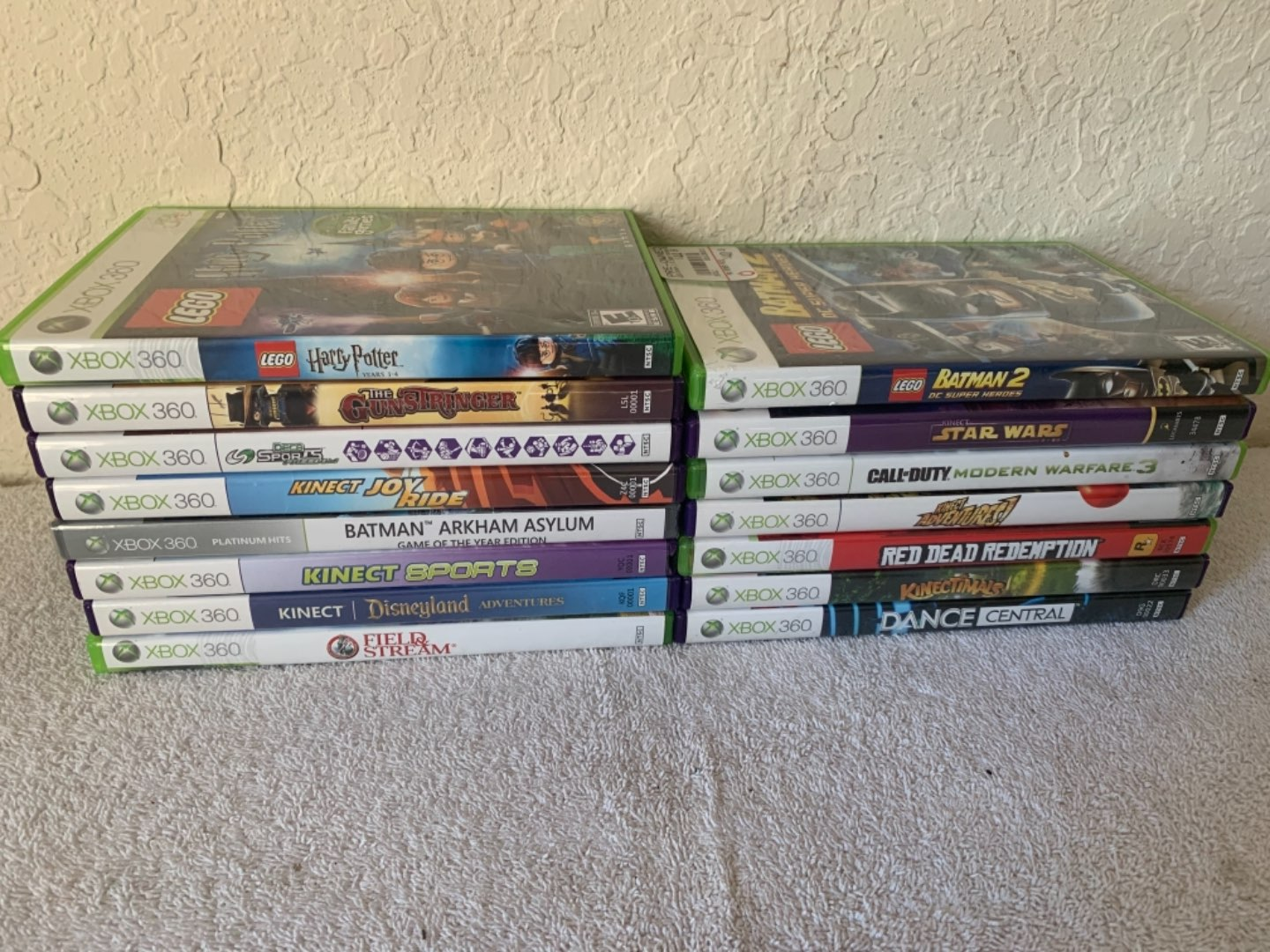 Lot # 299 Lot (15) Well Cared For & Like New XBOX 360 Games.