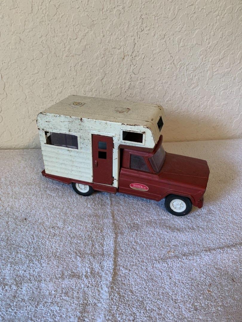 Lot # 301  Vintage 50's-60's Tonka Jeep Truck Camper. See Below