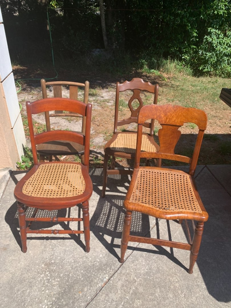 Lot # 327  4 Antique Assorted Mis-Matched Chairs