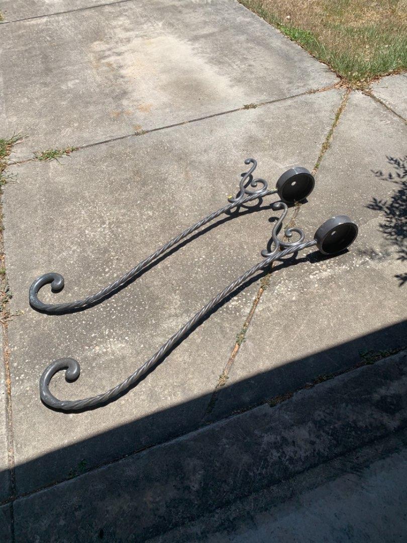 Lot # 334 Vintage Pair 5' Iron Railings?? See Below