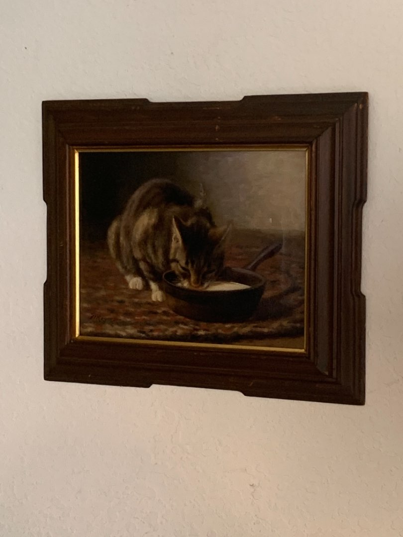 """Lot # 340 WOOOW!!!! Signed FW Rogers """"Queen Tabby"""" Oil Painting. Sold In Auction 2014 For 1800.00! See Below"""