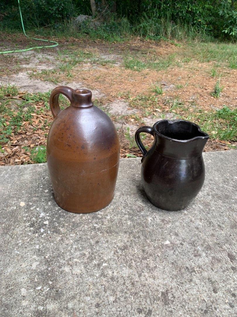 Lot # 353 Lot (2) Pieces Antique Stoneware. See Below