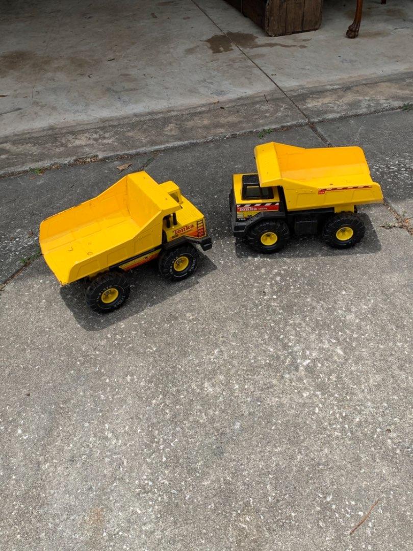 Lot # 357 Two Big Tonka Dump Trucks In Good Condition