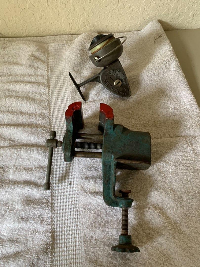 Lot # 360 Vintage Orvis 100 Reel & Small Bench Vise. See Below