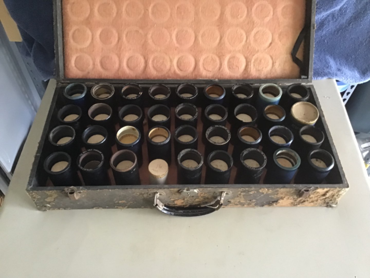 Lot # 370 ANTIQUE (@1902) EDISON Phonograph Cylinders (34 count) in Original Case