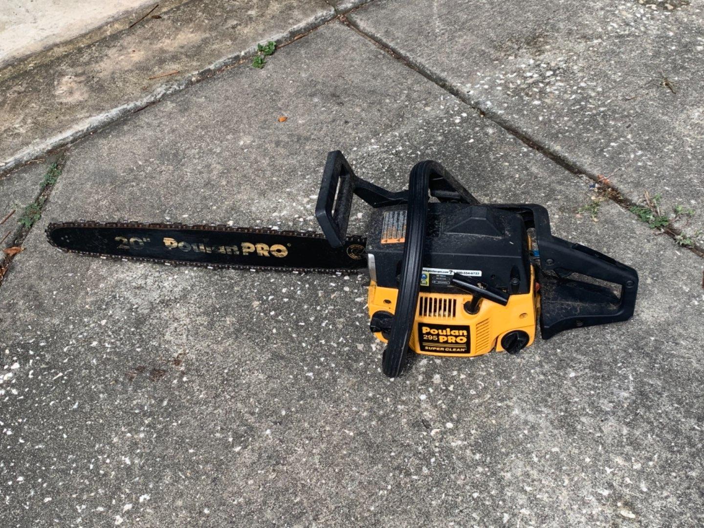 "Lot # 377 Poulin 295 Pro 20"" Chainsaw. See Below"