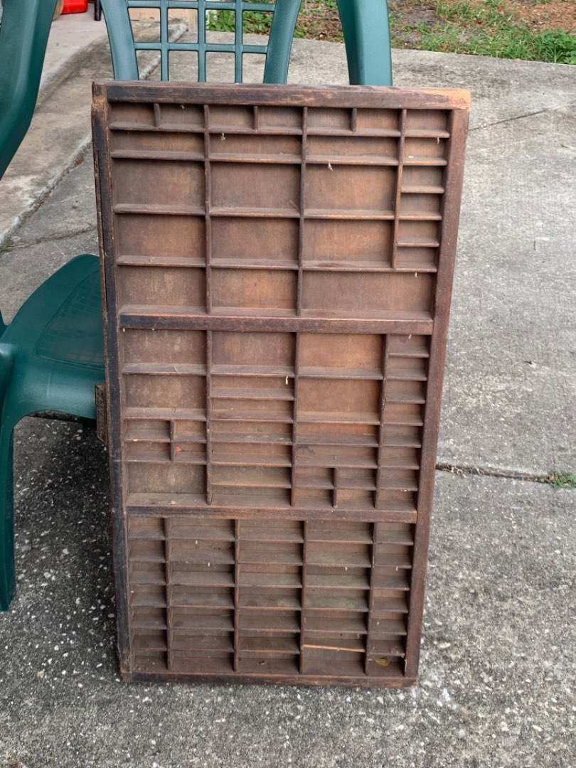 Lot # 378 Antique Keystone Foundry Print Drawer Tray Ready To Hang