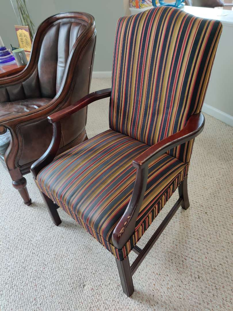 48 very nice striped armchair