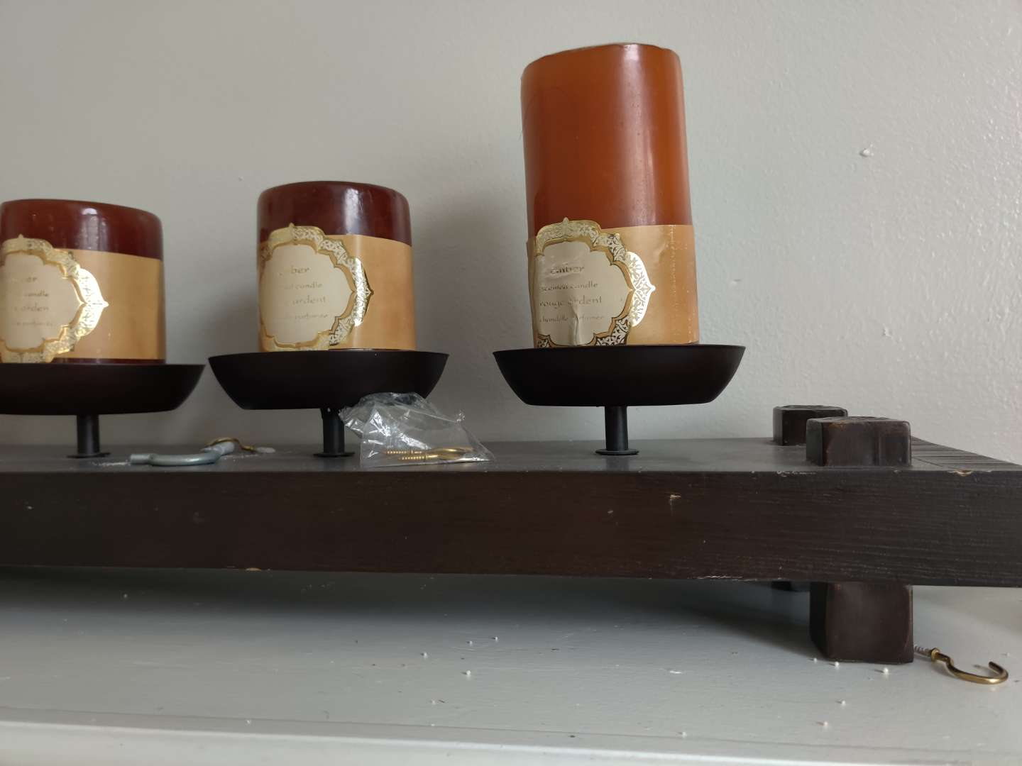 52 set of candle holders with the stand wooden