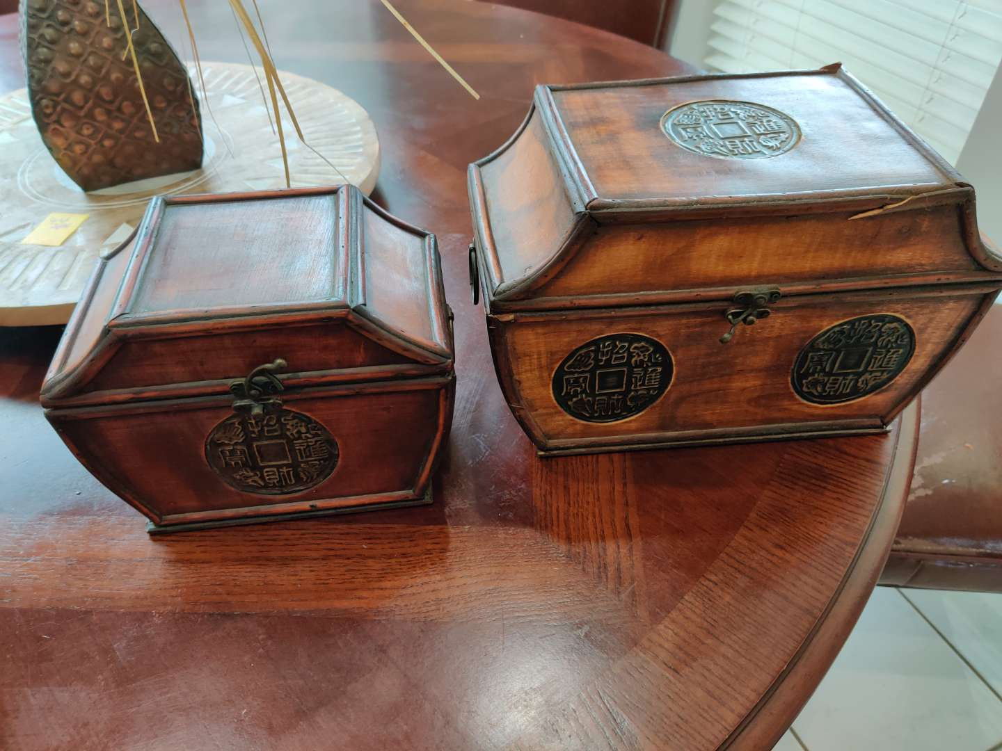59 two decorator chests trunks