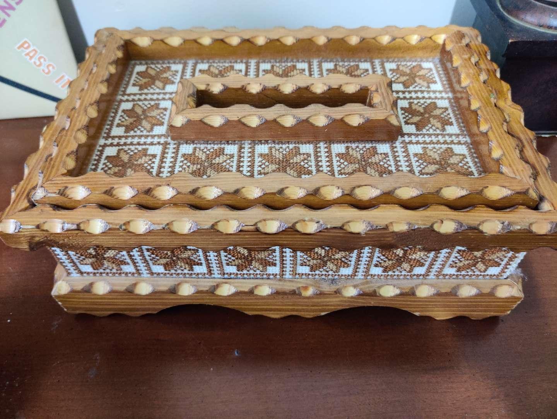 65 handmade folk art style wooden tissue box holder