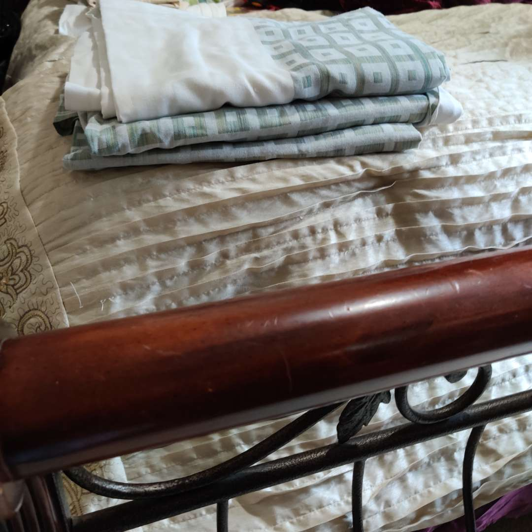 124 two large sage tablecloths