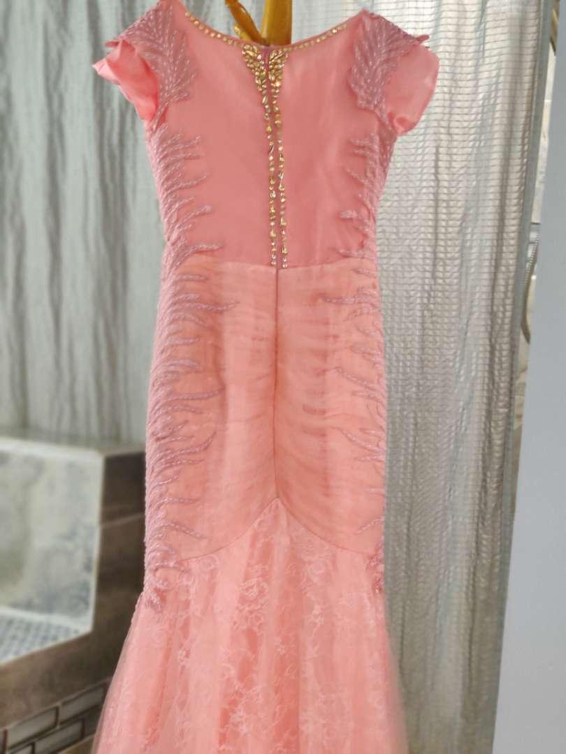 133 Lila Madison access mermaid dress peach
