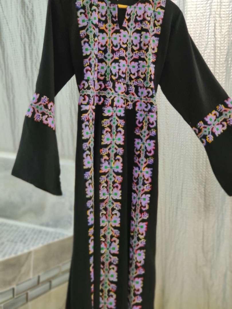 167 aspeed cross stitched black size 2 dress