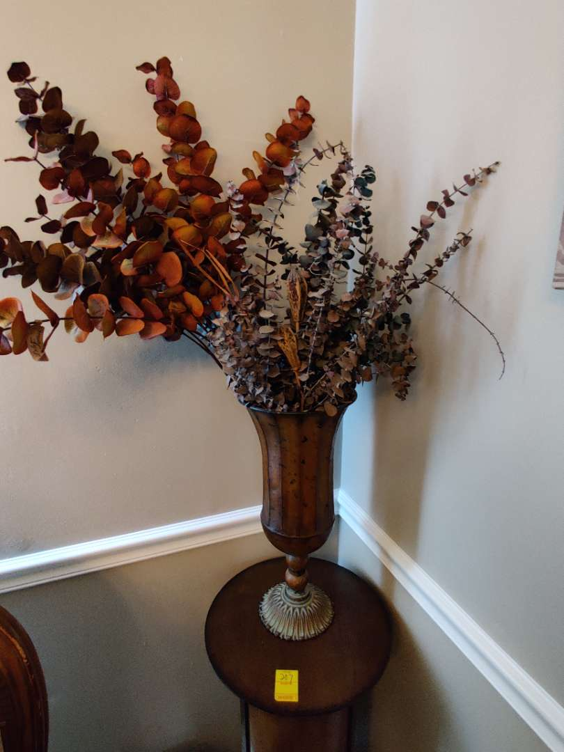 212 artificial flower set with metal base 39 inches tall overall