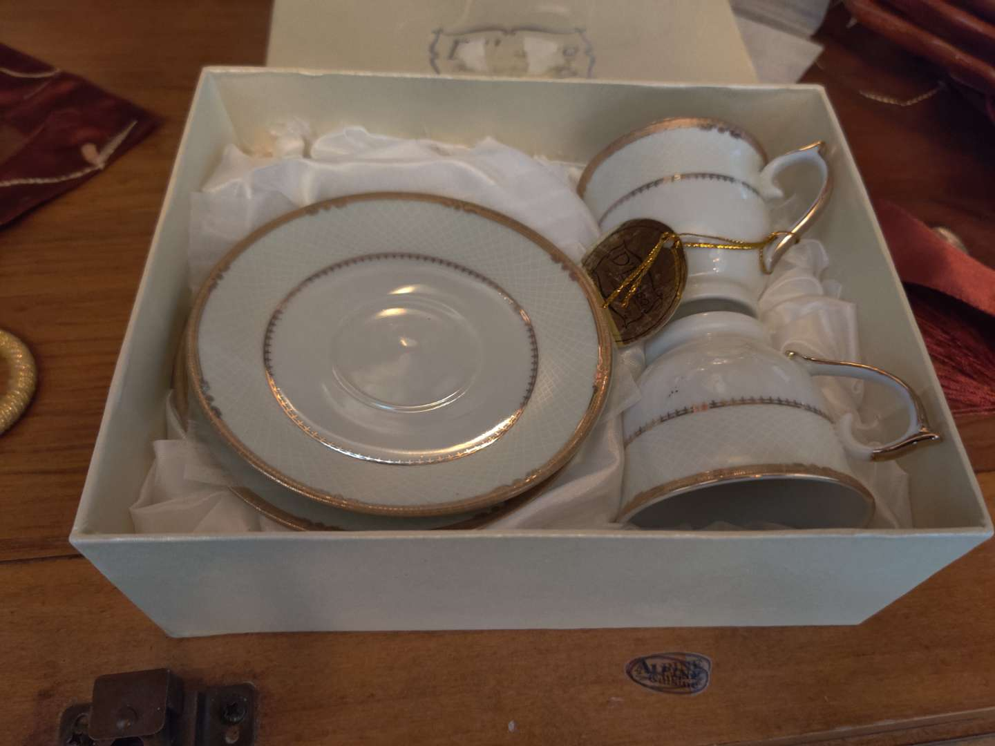 216 pair of China cup and saucers in the box