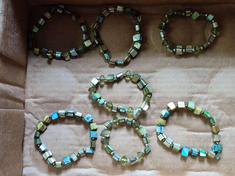 260 lot of seven bracelets