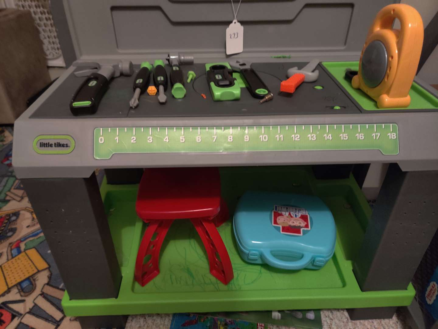 273 Little tikes tool set with stand