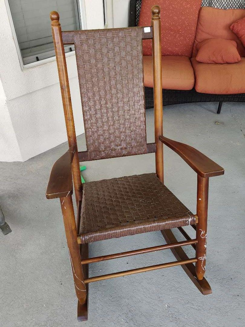 318 very nice porch rocker rocking chair composition material